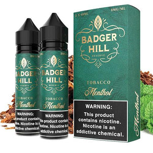 Badger Hill Reserve Menthol 0mg - 120ml by Verdict Vapors at MaxVaping