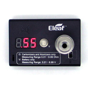 Ohm Meter Voltage Meter - 510 Connection for Testing Atomizer, Mod from eleaf Black - MaxVaping