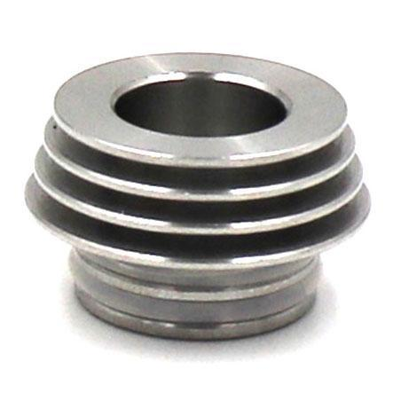 Finned 810 to 510 Drip Tip Adapter Silver - MaxVaping