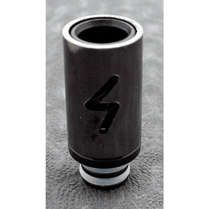 Brass and Resin AFC Hybrid 510 Drip Tip Black Bolt - MaxVaping