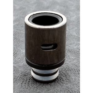 Brass and Resin AFC Hybrid 510 Drip Tip Black Slot - MaxVaping