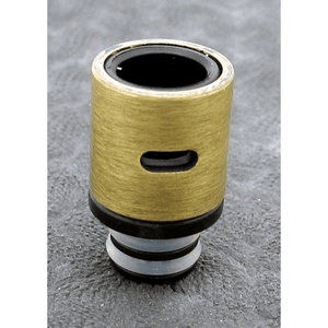 Brass and Resin AFC Hybrid 510 Drip Tip Gold Slot - MaxVaping