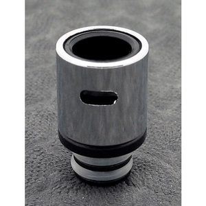 Brass and Resin AFC Hybrid 510 Drip Tip Silver Slot - MaxVaping