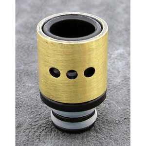 Brass and Resin AFC Hybrid 510 Drip Tip Gold Dots - MaxVaping