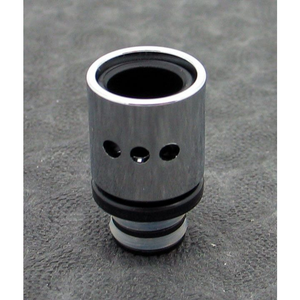 Brass and Resin AFC Hybrid 510 Drip Tip Silver Dots - MaxVaping