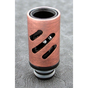 Brass and Resin AFC Hybrid 510 Drip Tip Copper Slashes - MaxVaping