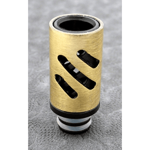 Brass and Resin AFC Hybrid 510 Drip Tip Gold Slashes - MaxVaping