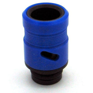 Adjustable Airflow Drip Tip - Delrin, Acrylic Blue - MaxVaping