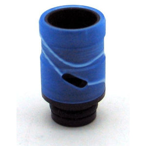 Adjustable Airflow Drip Tip - Delrin, Acrylic Blue Swirl - MaxVaping