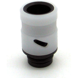 Adjustable Airflow Drip Tip - Delrin, Acrylic White - MaxVaping