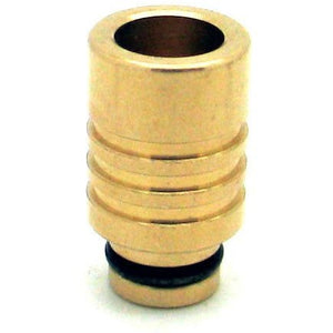 Wide Bore, Grooved Drip Tips Brass Big Well MaxVaping - 3