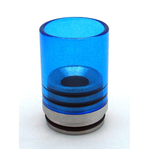 Hurricane II Glass Drip Tip for TOBH 22mm Blue - MaxVaping