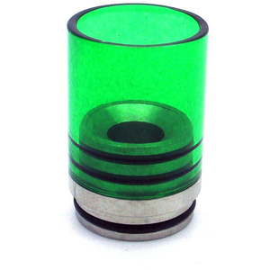 Hurricane II Glass Drip Tip for TOBH 22mm Green - MaxVaping