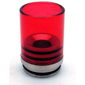 Hurricane II Glass Drip Tip for TOBH 22mm Red - MaxVaping