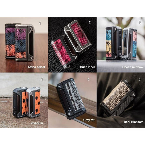 Lost Vape Lost Vape Therion DNA 166 Box Mod - Black Carbon Fiber Snake Skin Limited Edition - MaxVaping