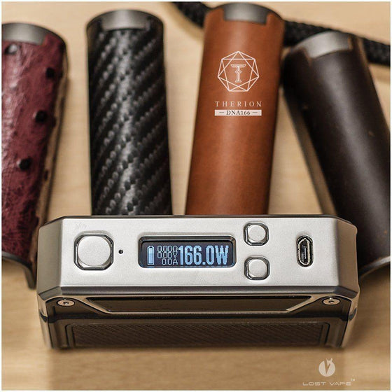 Lost Vape Lost Vape Therion DNA 166 Box Mod - Silver Wood Edition - MaxVaping