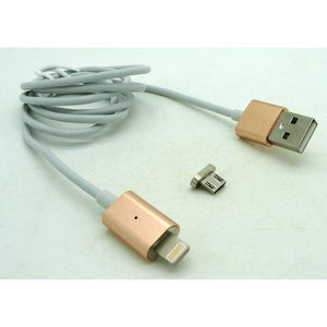 Magnetic Micro USB Charging Cable Gold End, Silver Cable by Various at MaxVaping