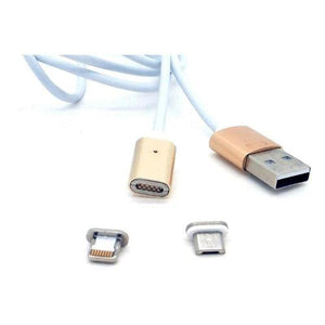 Magnetic Micro USB Charging Cable Gold End, Silver Cable - 5 pin by Various at MaxVaping