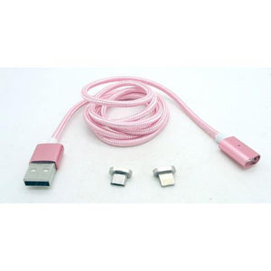 Magnetic Micro USB Charging Cable Rose Braided Nylon by Various at MaxVaping