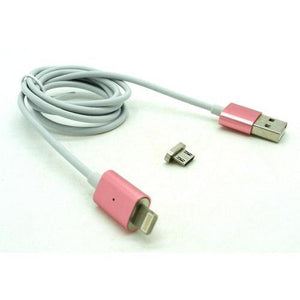 Magnetic Micro USB Charging Cable Rose End, Silver Cable by Various at MaxVaping