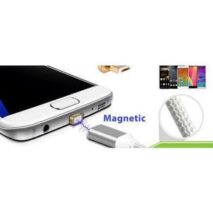 Magnetic Micro USB Charging Cable Silver End, Silver Cable by Various at MaxVaping