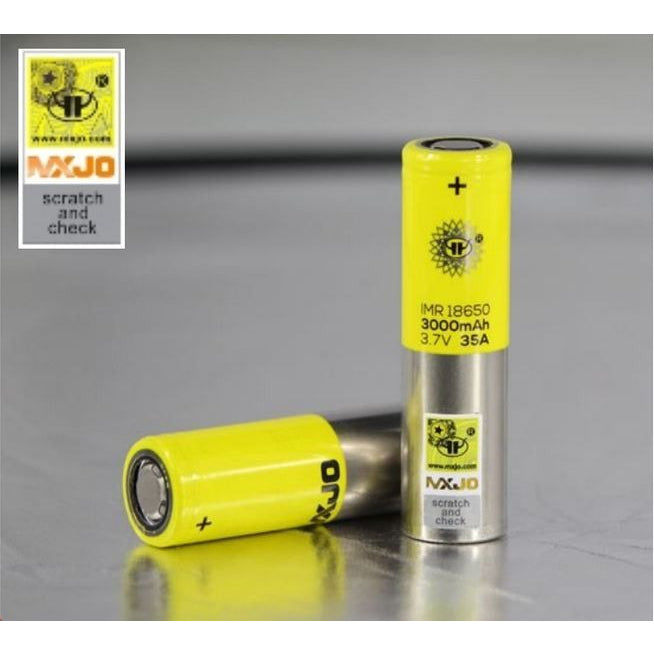 MXJO IMR 18650 35A 3000mAh Battery Pair