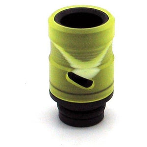 Adjustable Airflow Drip Tip - Delrin, Acrylic Yellow Swirl - MaxVaping