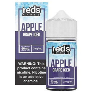 Reds Apple Grape Iced 0mg - 60ml by 7 Daze at MaxVaping