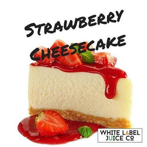 Strawberry Cheesecake - 100ml 0mg - 100ml by White Label Juice Co. at MaxVaping