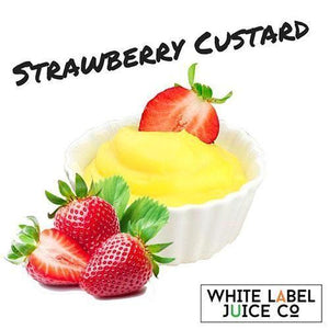 Strawberry Custard - 100ml 0mg - 100ml by White Label Juice Co. at MaxVaping