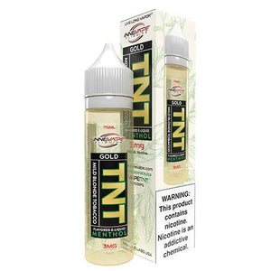 TNT Menthol 0mg - 75ml Gold by Innevape at MaxVaping