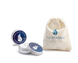 NEW - Shabbat Candle Holder Tins (with drawstring bag)