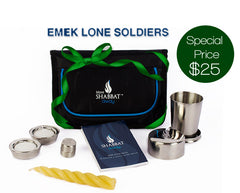 Mini Shabbat Away Travel Set™ for EMEK LONE SOLDIERS (only)