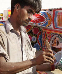 Artisan: Ahmad Ali - Colourful home decor from Pakistan