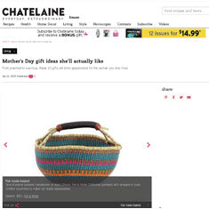 African basket in Chatelaine