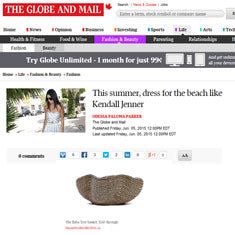 Globe and mail Kendall Jenner summer