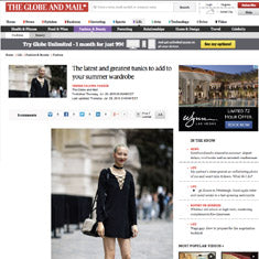 Globe and Mail - Silk Tunics