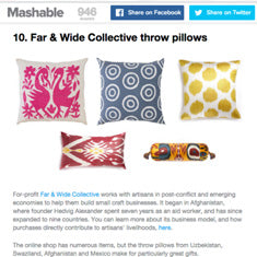 Mashable, 16 Slam Dunk Holiday Gifts that Give Back,