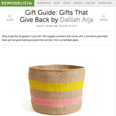 African Basket in Remodelista - Gift Guide