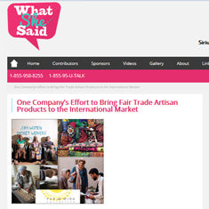 What She said - Fair Trade Artisan Products