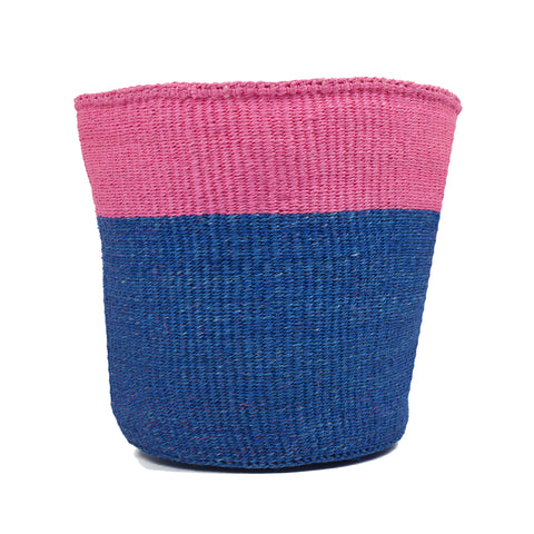 Pink Colour Block Basket - Medium