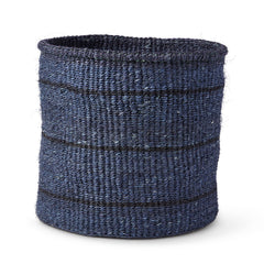 Large Dark Grey with Thin Stripes Basket