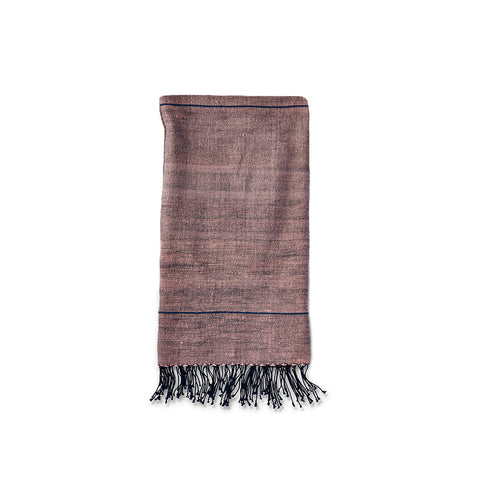 Light Pink + Grey Stripe Hand Towel - Ethiopia