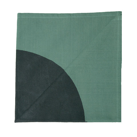 Green Circle Napkin (set of two) - India