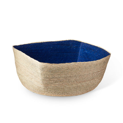Natural + Indigo Square Basket