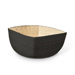 Black + Natural Square Basket