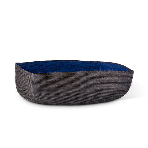 Large Black + Indigo Tray Basket