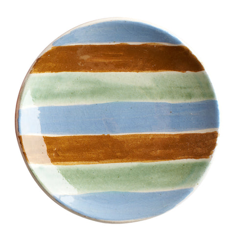 Small Ceramic Dipping Bowl - Multi-stripe - Uzbekistan