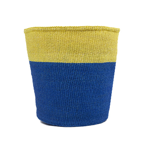 Yellow Colour Block Basket - Medium