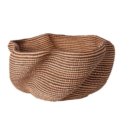 Brown-red Striped Wave Basket